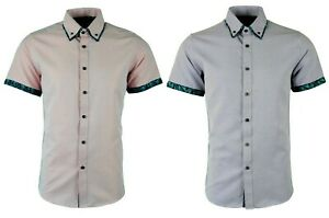 Dominic Stefano Cobalt Blue Smart Button Down Double Collar Men/'s Shirt 210