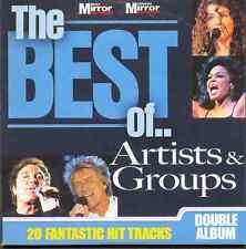 BEST OF ARTISTS & GROUPS - PROMO 2 CD SET: LULU, SPACE, ROD STEWART, TROGGS ETC