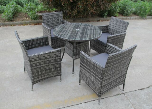 Grey Metal Folding Garden Bistro Set