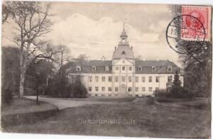 DANEMARK-old-postcard-CHARLOTTENLUND-SLOT-TO-PARIS-YEAR-1910