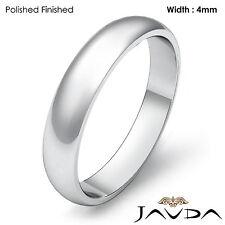 Classic Men's 4mm Platinum Plain Dome High Polished Wedding Ring Band 6.1g 8-8.5