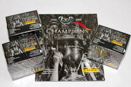ALBUM VUOTO album PANINI CHAMPIONS OF EUROPE 2005-3 x display box SEALED//OVP