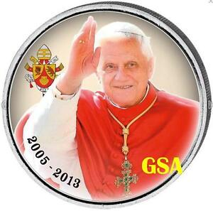 2 Euro Münze Vatikan Motv 2005 2012 Papst Benedikt Xvi Rar