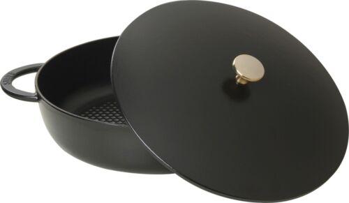 Staub Schmortopf Bräter mit Deckel 24 cm schwarz Multifunktionsbräter