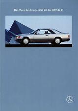 Prospekt Mercedes 230 CE 300 CE CE-24 Coupé 10/89 Broschüre 1989 Autoprospekt