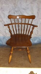 Image Is Loading Maple Ethan Allen Swivel Early American Desk Chair