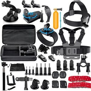 60-Pcs-Accessories-Set-Kit-For-GoPro-Hero-2-3-3-4-5-SJCAM-Head-Chest-Strap-Pole