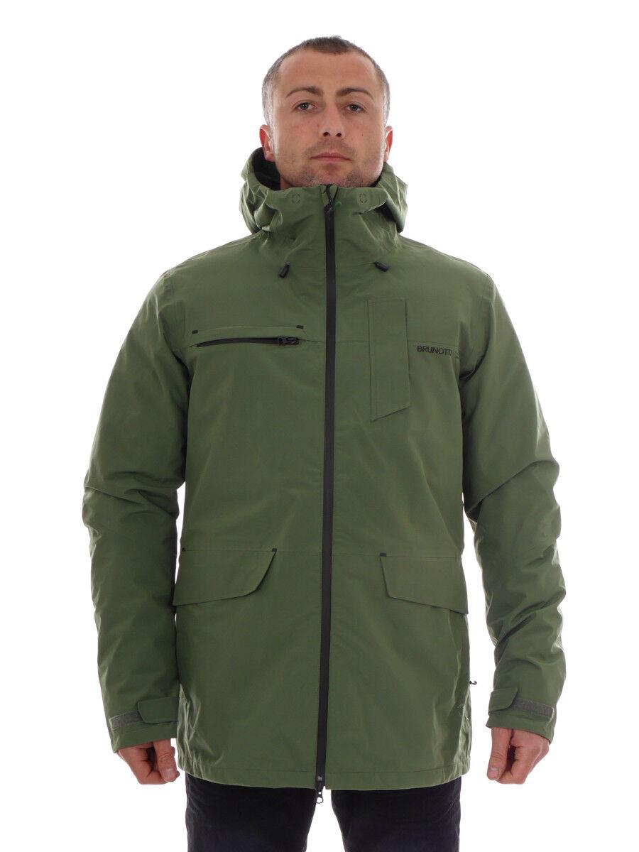 Brunotti vellón función chaqueta abrigo verde  foresail transpirable  marca en liquidación de venta