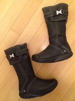 "MBT Women's ""Goti"" Black Leather Knee High Walking Boots Size 6"