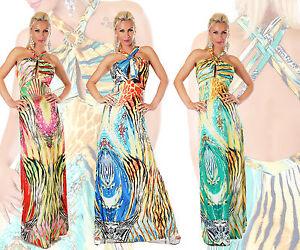 cc5abf782 La imagen se está cargando Vestido-de-mujer-vestido -largo-abocinada-sexy-cuello-