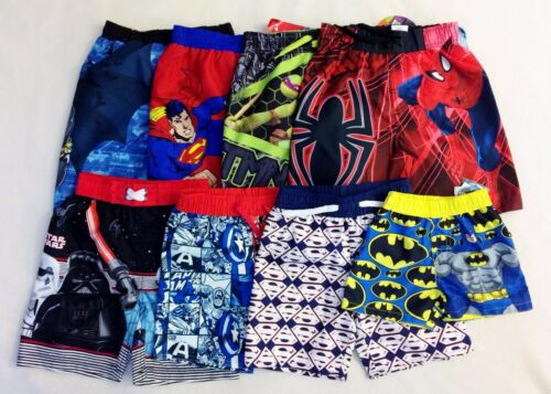 NWT Boy Superhero Marvel DC Comics Swim Trunks ≈ U Choose Size 12M 3T 4T 5T XS