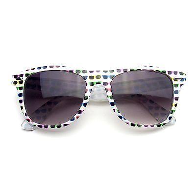 Retro Indie Fun Pattern Color Assorted Print Wayfarer Sunglasses