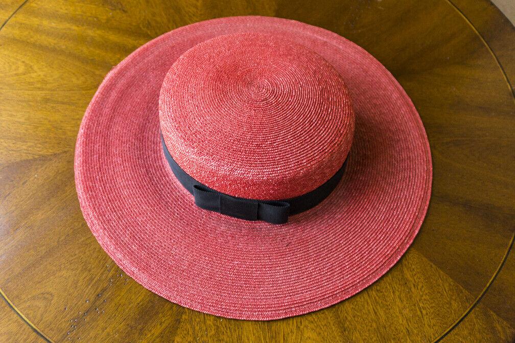Bonwit Teller - Vintage  Straw Summer Hat - Wide … - image 4