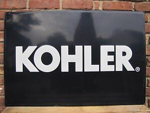 KOHLER Engines Equpment Embossed Metal Dealer Adv Sign feed seed ...