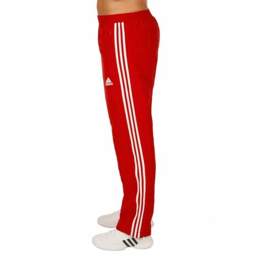 Adidas mens red and white t16 sweatpants