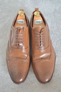 Austin Reed Suit Maker Brown Genuine Leather Smart Oxford Brogues Shoes 46 12 Ebay