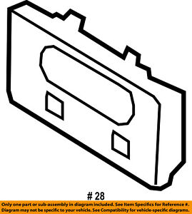 FORD OEM 99-03 F-150-License Plate Bracket Mount Holder XL3Z17A385AA