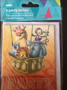 Monkeys Jungle Safari Animal Monkey Kids Birthday Party Invitations w//Envelopes