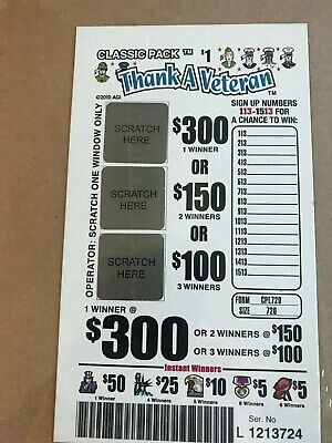 PULL TAB TICKETS ROCK ROULETTE 1800Ct $280.00 PROFIT FREE SHIPPING