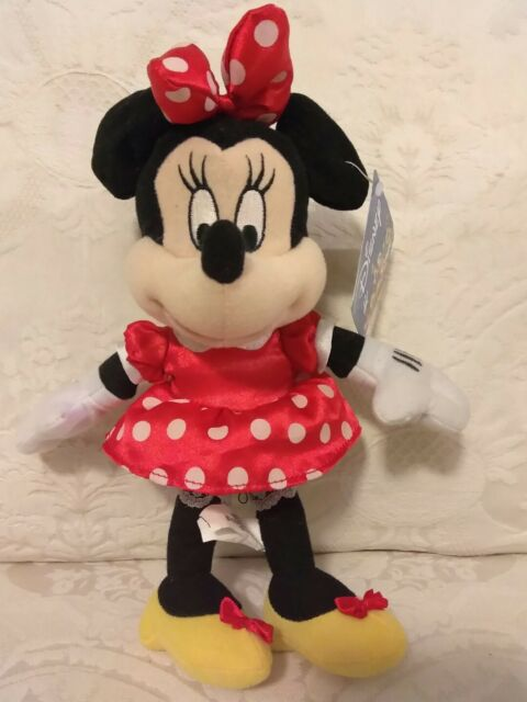 Disney store Limited Minnie Mouse kawaii 44cm Big toy plush stuffed white doll