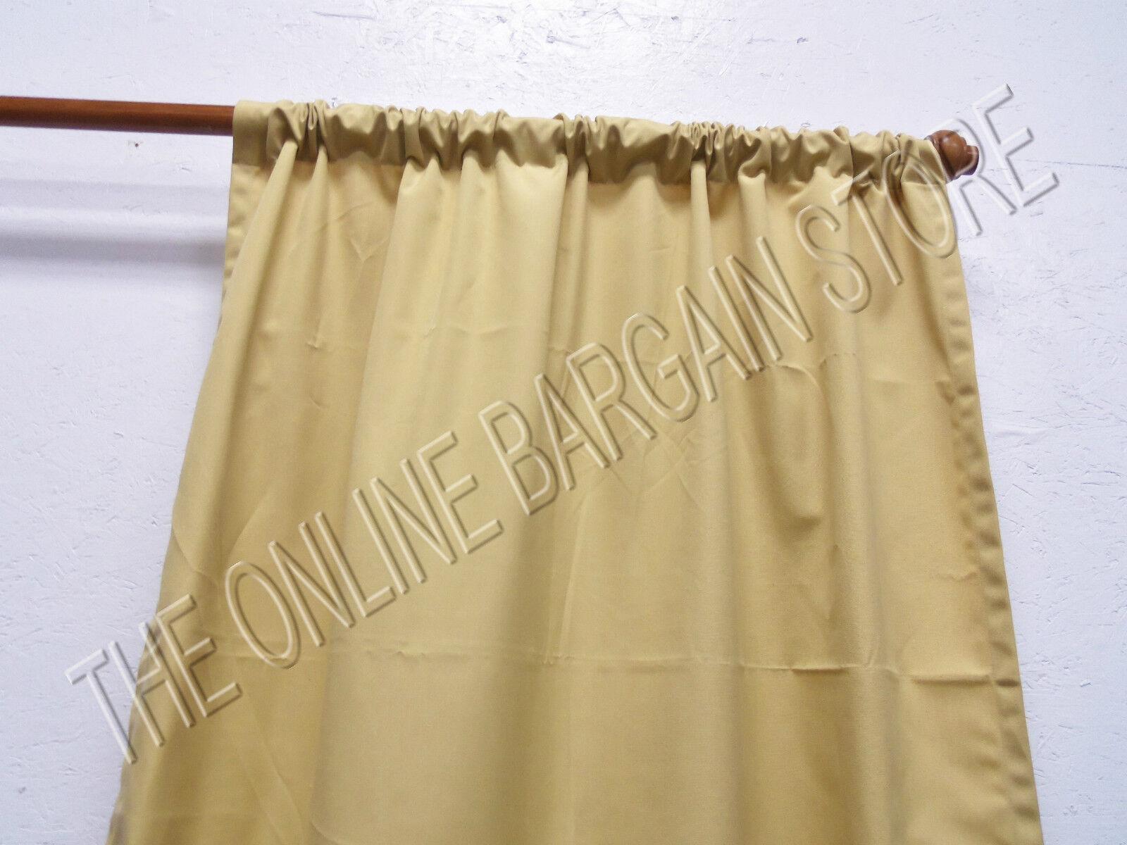 Frontgate al aire libre sólido cortinas, paneles de cortinas Sunbrella trigo 50x96 bolsillo para barra