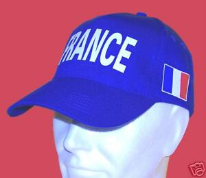 attrayant et durable couleurs harmonieuses collection de remise Détails sur CASQUETTE FRANCE DRAPEAU TRICOLORE coton drill BLEU Bleu Blanc  Rouge