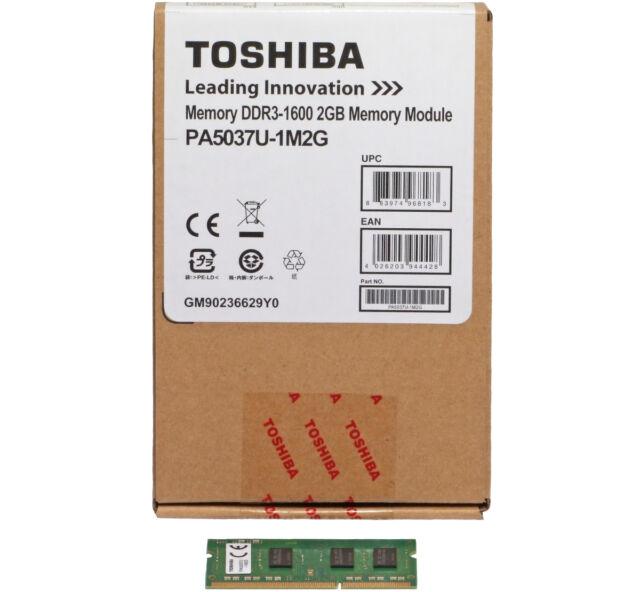 Toshiba 2GB DDR3 PC3-12800 1600MHz Laptop Memory PA5037U-1M2G 1RX8 PC3L-12800S