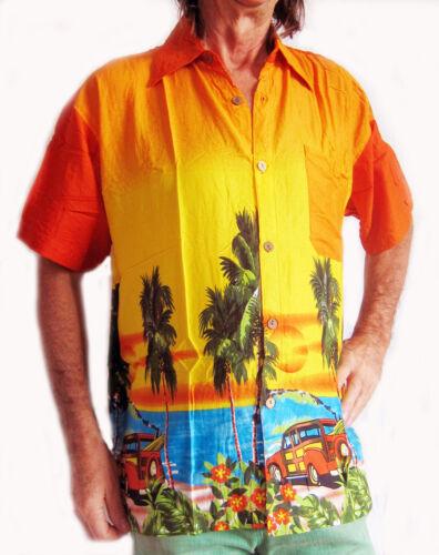 Loud Camicia Hawaiana con auto d/'epoca /& Palme ADDIO AL CELIBATO NOTTE VACANZE ESTIVE Partito