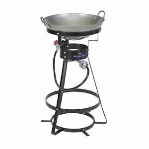 STANSPORT 54000 BTU SINGLE BURNER OUTDOOR STOVE WITH WOK CAMPING OUTDOOR NEW