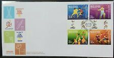 Malaysia 1997 Commonwealth Games 4th Issue, 4v Stamps FDC (Lot F)
