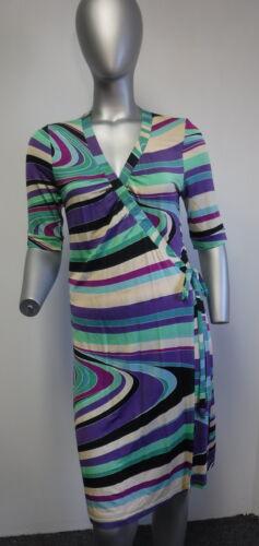 MISSONI multicolored swirl print short-sleeve wrap