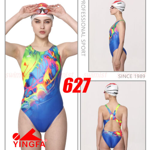 2018 NWT YINGFA 627 COMPETITION TRAINING RACING SWIMSUIT M US GIRLS 12-14 MISS 2