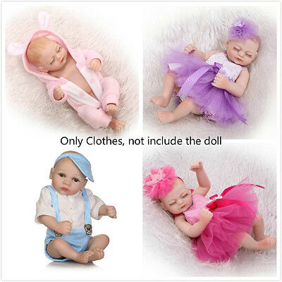 """Clothes Outfit For 10/""""-11/'/' Mini Reborn Doll Newborn Baby Girl Boy Doll Clothing"""