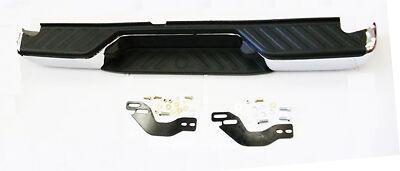 Rear Chrome Plated Bumper With Brackets Fits Nissan Navara D40 3.0TD 5/2010>ON