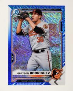 2021 Bowman Prospects Chrome Blue Shimmer #BCP-118 Grayson Rodriguez /150