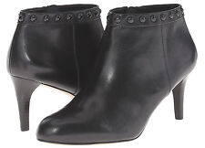 NIB Coach A00310 Holiday Soft Shine Black Leather Bootie Size 10