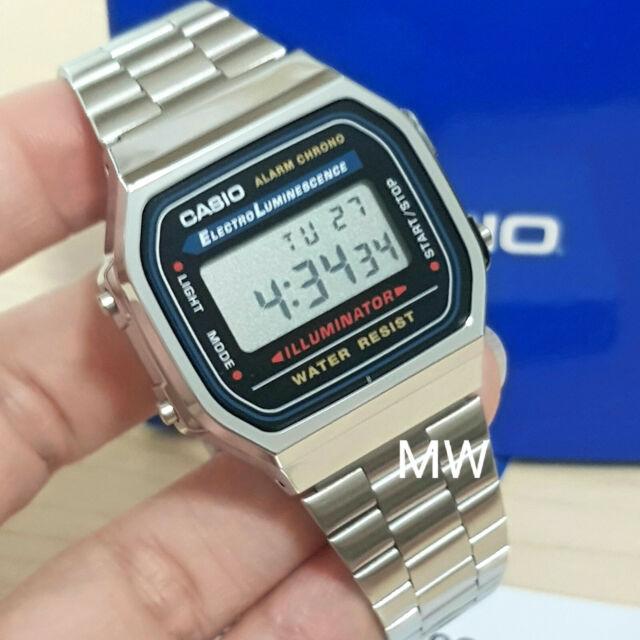 1e744723b Casio Retro Mens ladies Digital Watch Alarm Silver A168 A168W A168WA-1U  Unisex