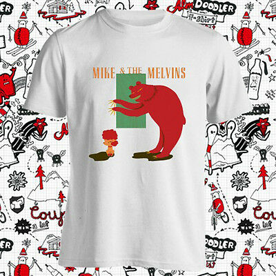 Mike and The Melvins Three Men and Baby Men/'s Black T-Shirt Size S to 3XL