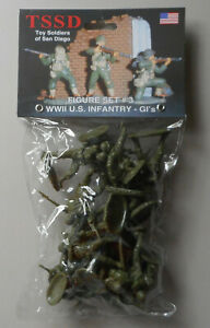 1-32-WWII-US-Infantry-GIs-Set-3-Plastic-Toy-San-Diego-Figures