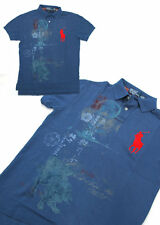 $125 Polo Ralph Lauren Big Pony Custom Fit Short Sleeve Navy Blue Asian Shirt M