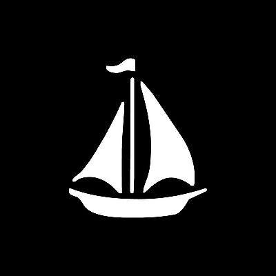 Ship Wheel Sticker Sailboat Nautical Boat Ocean Sailing Car Bumper Vinyl Decal