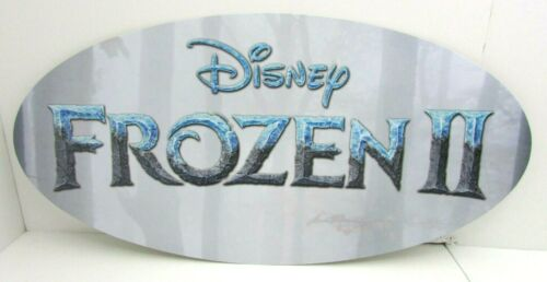 """Disney Frozen II 2 Oval Wall Store Display Poster Sign 21 1//2/"""" x 10 1//4/"""""""