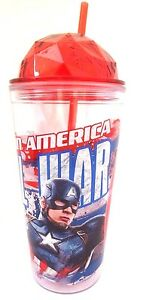 Marvel-Captain-America-Civil-War-Boy-039-s-Kids-Exclusive-Drinking-Cup-20-Oz-NEW