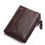 Men-Women-Genuine-Leather-Cowhide-Bifold-Wallet-Holder-Credit-Card-Retro-Purse miniature 13
