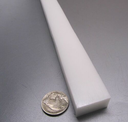 """Delrin Acetal Bar 1//2/"""" .500/"""" Thick x 1.00/"""" Wide x 48/"""" Long White"""