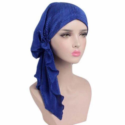 Women Turban Muslim Hijab Cotton Cancer Chemo Cap Beanie Headwear Scarf Wrap Hat