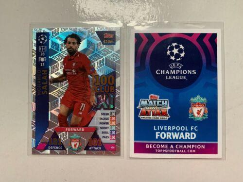 Match Attax UEFA Champions League 2018//19 Mohamed Salah 100 101 Club 438 Nuevo