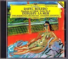 Giuseppe SINOPOLI: DEBUSSY La Mer RAVEL Bolero Daphnis et Chloe No.2 DG CD 1990