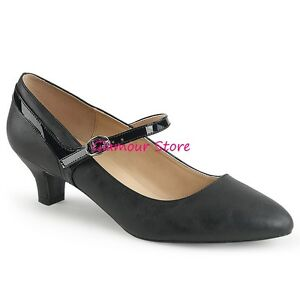 Bretelles Chaussures Decolte Glamour 'mary Sexy À Talon Noir 46 39 Jane 5 Cm De aBAqf71