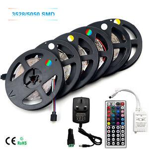 5050-3528-SMD-LED-Strip-Light-5M-Flexible-300LEDs-Festival-X-Mas-Decorate-House